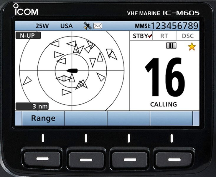 Icom m605 color display