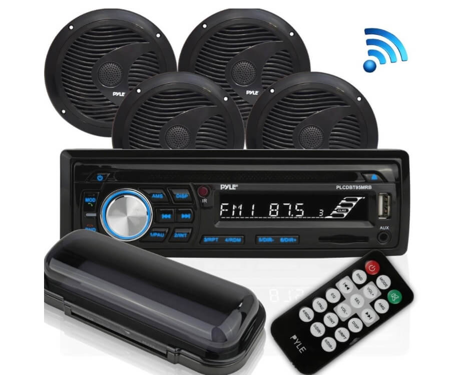 Pyle Bluetooth Marine Audio Stereo Kit