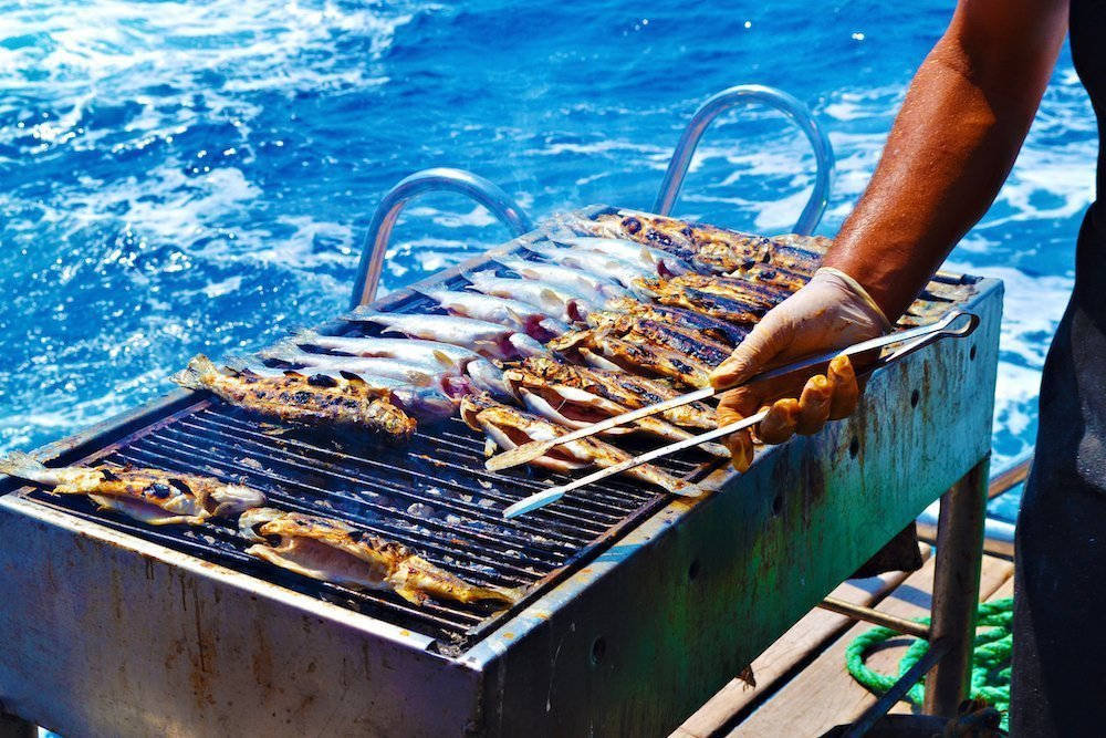 charcoal boat grill