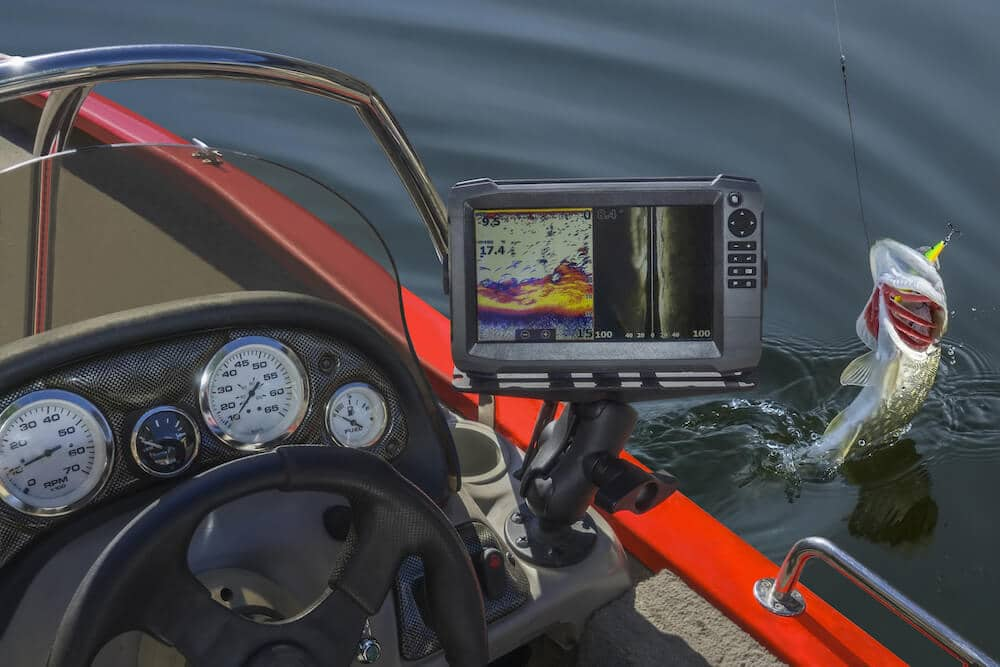 fishing with a fishfinder